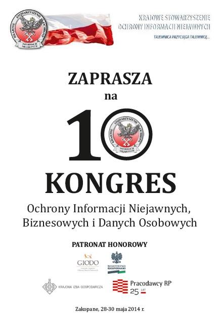 Zaproszenia na Kongres